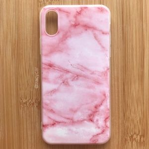 Accessories - NEW Iphone X Marble Pink Stone Case